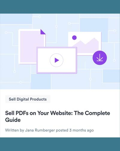 Learn how to sell PDFs online with Selz by Jana Rumberger
