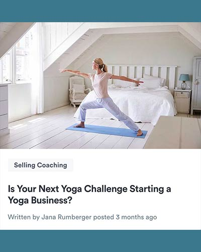 Learn how to start a yoga business by Jana Rumberger