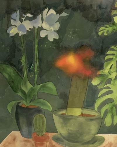 Art detail of Houseplant painting 1 by Jana Rumberger