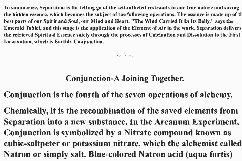 Excerpt from alchemical text about conjunction