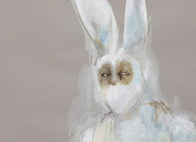 Detail, Casey from The March Hare, Art by Jana Rumberger