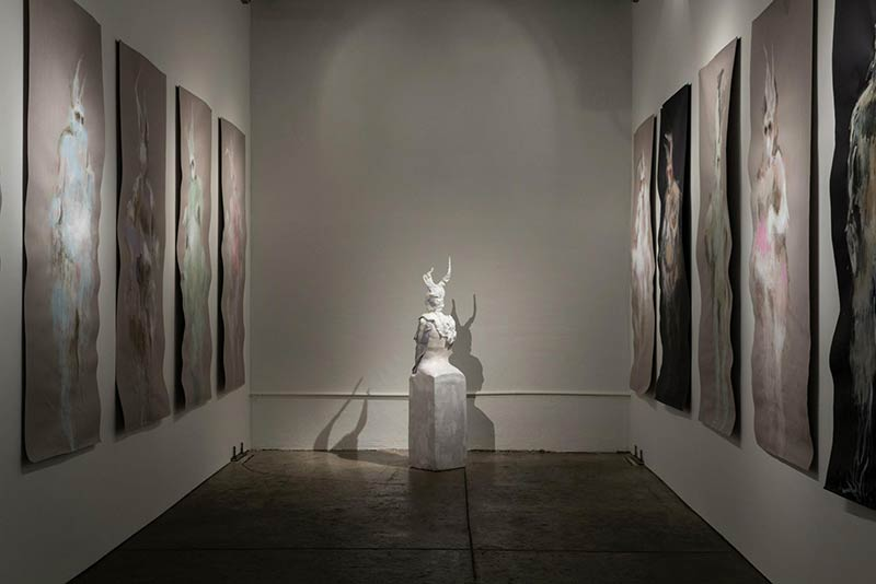 The March Hare, installation at Aggregate Space Gallery, Art by Jana Rumberger