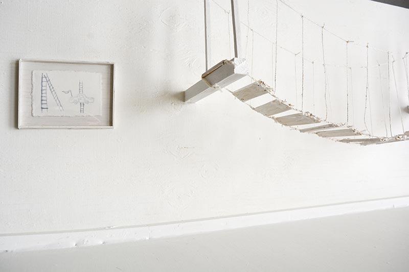 Metafiction, from left: Cars & Ladders, Segue (Rope bridge) Jana Rumberger art