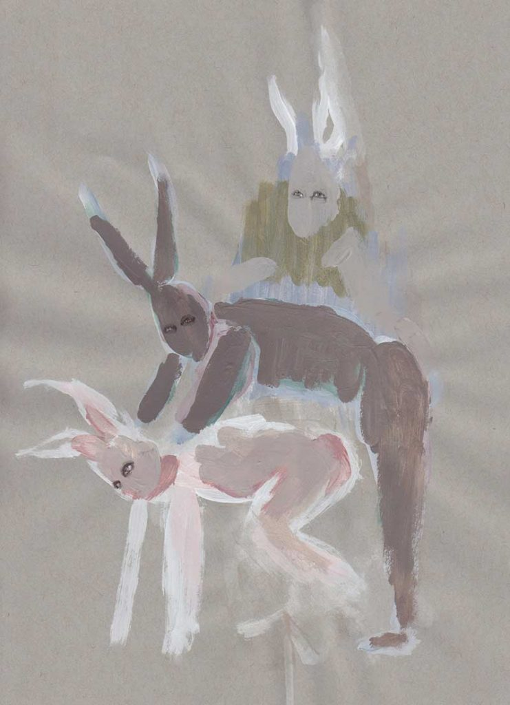 From Three Hares, part of The March Hare by Jana Rumberger, art