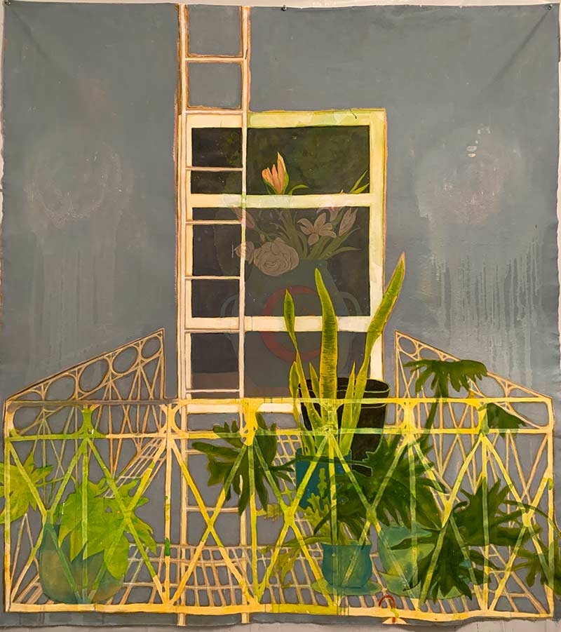 Fire escape garden from COVID Gardens by Jana Rumberger