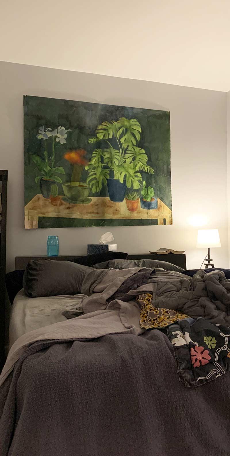 Table garden hanging in the bedroom. of the artist, Jana Rumberger