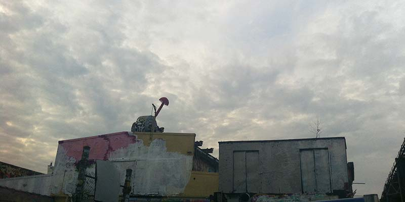 New York sunset over 5 Pointz in 2013 prior to viewing the  Mike Kelley retrospective at MoMA PS1